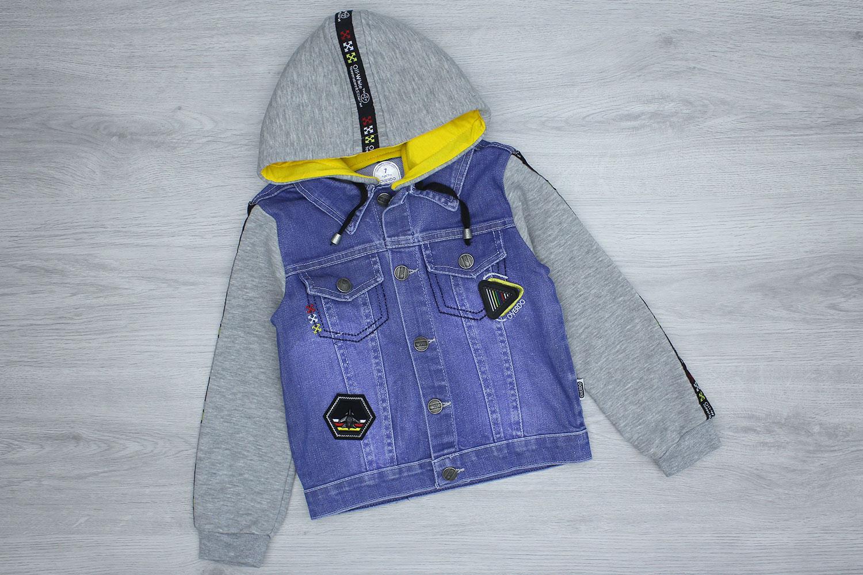 А8593 Куртка мальчик джинс трикотаж флис OVERDO [140/146/152]_3