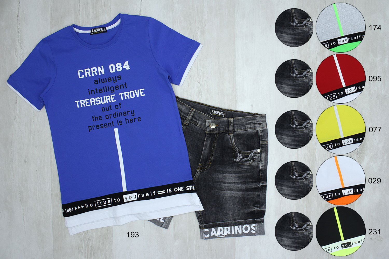 CRR8223 Костюм мальчик трикотаж джинс CARRINOS [134/140/146/152]_4