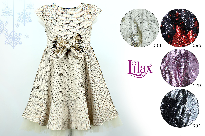 LLX5335 Платье трикотаж фатин пайетки LILAX [92/98/104/110]_4